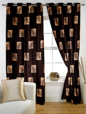 Color Block Geometric Eyelet Curtain Set Of Two - Story @ Home