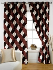 Checked Eyelet Curtain Set Of Two - Story @ Home