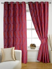 Printed Eyelet Curtain Set Of Two - Story @ Home
