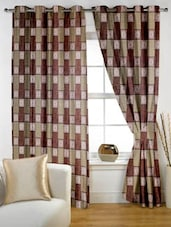 Color Block Eyelet Curtain Set Of Two - Story @ Home