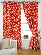 Geometric Eyelet Curtain Set Of Two - Story @ Home