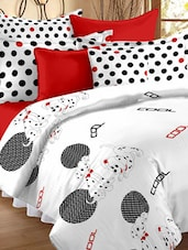 Polka Dotted Kids Double Bedsheet With Pillow Cover - Story @ Home