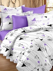 Floral Printed Double Bedsheet With Pillow Cover - Story @ Home