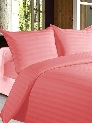 Story @ Home 100% Cotton Pich Satin Stripes King Size Double Bedsheet