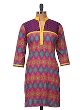 Amazing Blue And Pink Cotton Kurti - Jaipurkurti.com