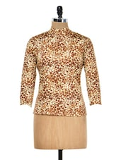 Brown Animal Printed Top - Meee!