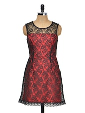 Red And Black Lace Dress - Meee!
