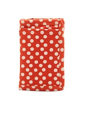 Red And White Polka Dotted Zip Wallet - Voylla