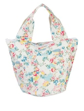 Multi-coloured Floral Print Handbag - Voylla
