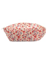 Multi-coloured Floral Print Pouch - Voylla