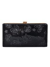Black Textured Wallet - Lalana