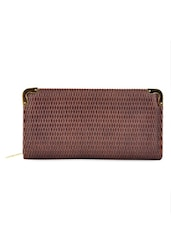 Brown Textured Wallet - Lalana