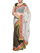 Black And White Net Saree - Aakriti