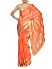 Elegant White Saree With Black Border - Aakriti
