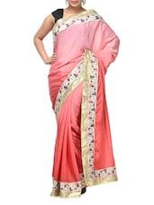 Fantastic Shaded Pink Crepe Silk Saree - Aakriti