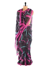 Black Printed Saree - Fabdeal