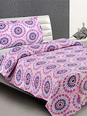 100 % Cotton  Single Bed Sheet With  Pillow Cover - Desi Connection - 953329