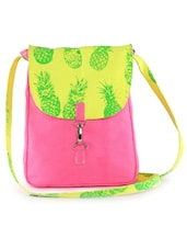 Pink And Yellow Sling Bag - Vogue Tree