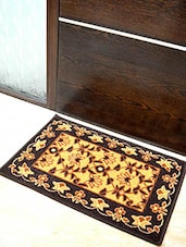 Yellow And Black Nylon Doormat - By