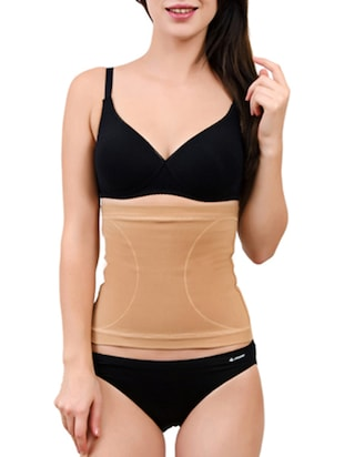 Beige Cotton and Spandex Tummy Tucker Shapewear