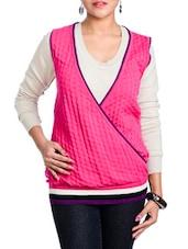 Pink V-Neck Sleeveless Top - Aussehen