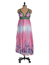 Colourful Floral Touch Maxi Dress - Glam Quotient