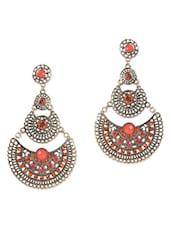 Red Gold Metallic Earrings - ESmartdeals