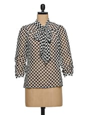 Black & White Checks Shirt - XnY