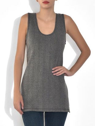 grey cotton blend camisole thermal