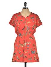 Butterfly Dress With Front Zipper - Aussehen