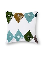 White Cotton Printed Cushion Cover (Set Of 5) - By