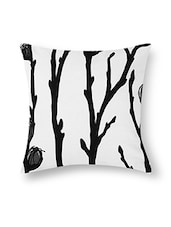 Black And White Cotton Printed Cushion Cover (Set Of 5) - By - 9545527