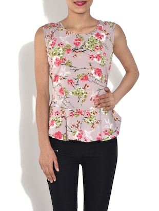 multicolored floral print top