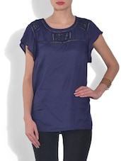 Purple Rayon Top - By