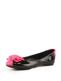 Black And Pink Ballerinas - Tresmode