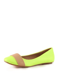 Green And Beige Ballerinas - Tresmode