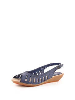 Blue Cutwork Sandals - Solo Voga