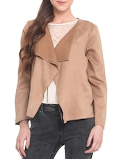 Brown Suede Long Sleeved Jacket - By