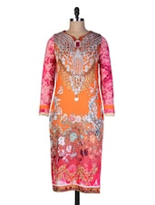 Multicolored Digital Printed  Kurti - By