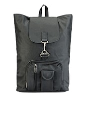 Solid Black Back Pack - Bags Craze