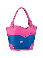 Pink And Blue Tote Bag - Bags Craze