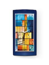 Blue High Grade Plastic High Quality Rectangular Wall Clock - By