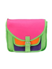 Green, Pink And Blue Sling Bag - Bags Craze