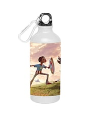 White Stainless Steel Super Boy Water Bottle - By