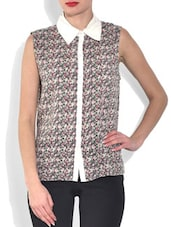 Multicolored Printed Sleeveless Cotton Top - By - 9558802