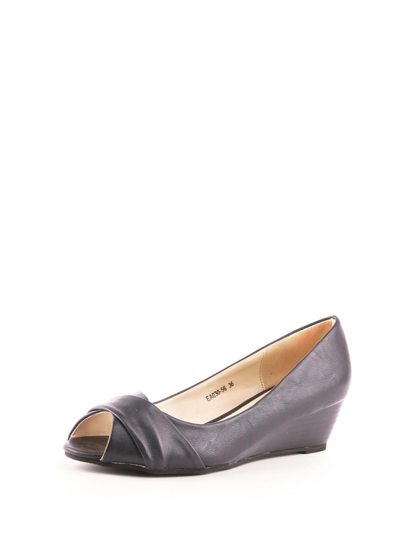 Blue Peep Toe Wedge Sandals - Solo Voga
