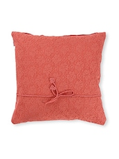 Solid Rust Cotton Cushion Cover ( Set Of 2 ) - By