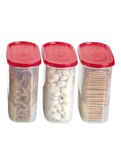 Red Storage Containers (set Of 3) - Primeway Elite