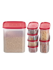 Red Storage Containers (set Of 7) - Primeway Elite