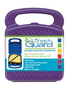 Purple Sandwich Guard Lunch Box